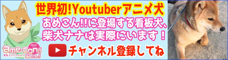 Youtube「柴犬ナナチャンネル」登録お願いします!